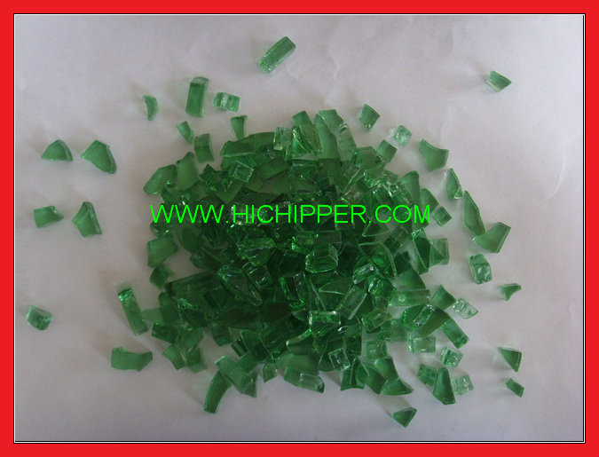 Fire pit glass-green