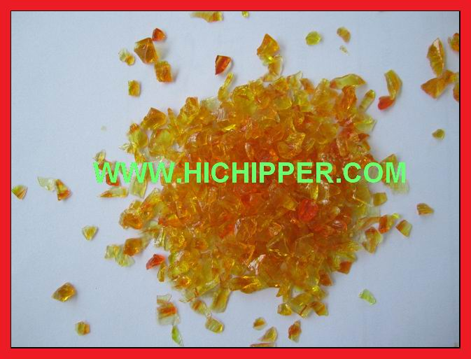Glass Chips-Orange Glass Chips
