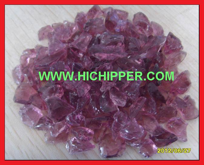 Glass Chips-Purple Glass Chips