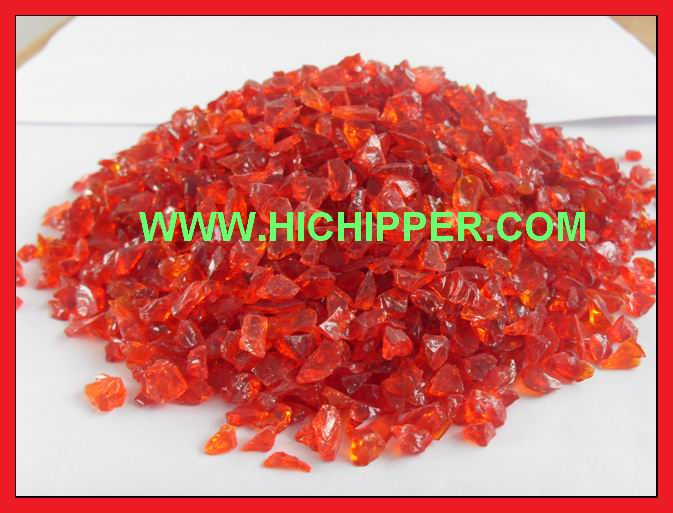 Glass Chips-Red Glass Chips