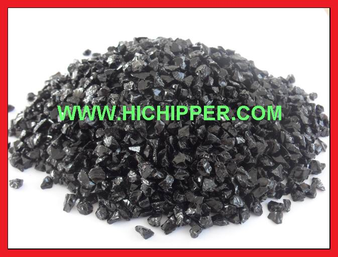 Glass Chips-Black Glass Chips