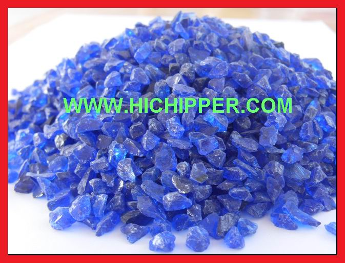 Glass chipping-Cobalt Blue glass chipping