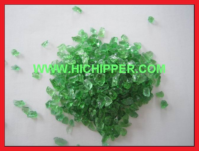 Glass chipping-light green glass chipping