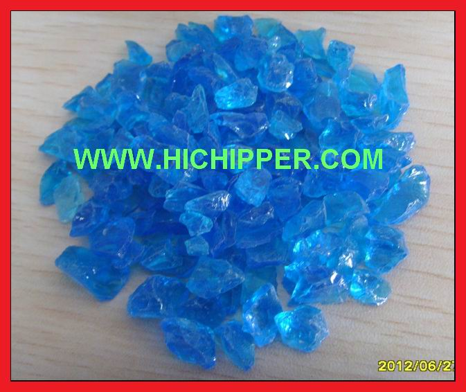 Glass chipping-Ocean Blue glass chipping