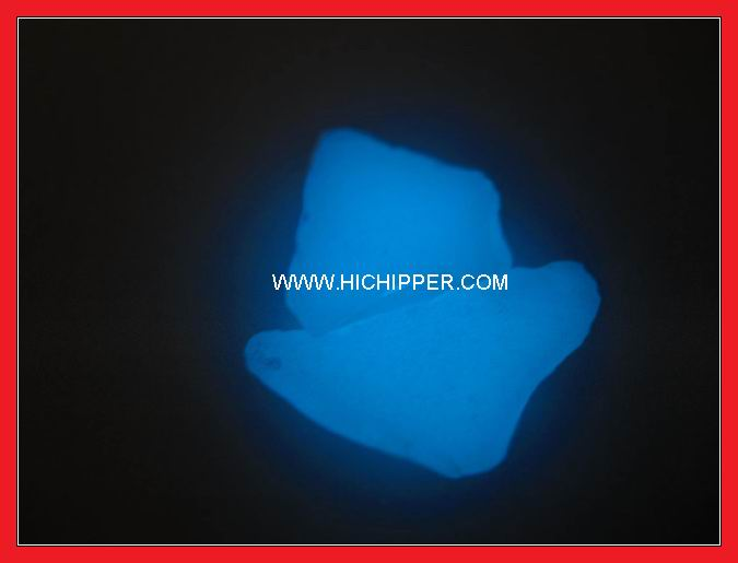 Glow in dark glass chips-sky blue