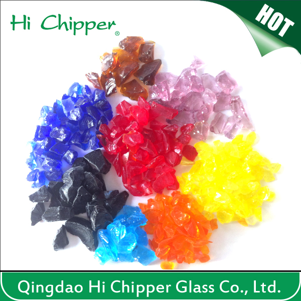 Corlorful glass chips