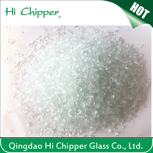crushed clear glass chipping