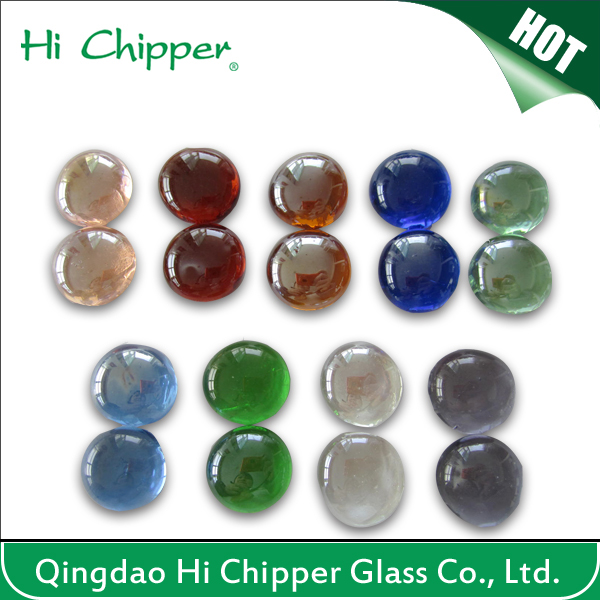Round Polished Fire Pit Glass