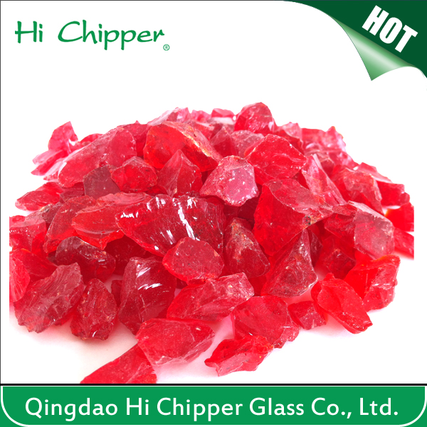 Landscape Glass-Crushed Red Glass