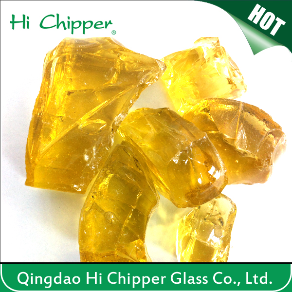 Landscape Glass-Crushed Yellow Glass
