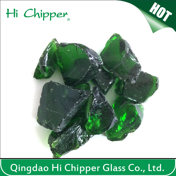Landscape Glass-Crushed Green Glass Stone