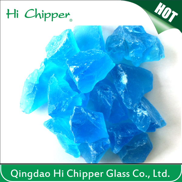 Landscape Glass-Crushed Ocean Blue Glass Stone