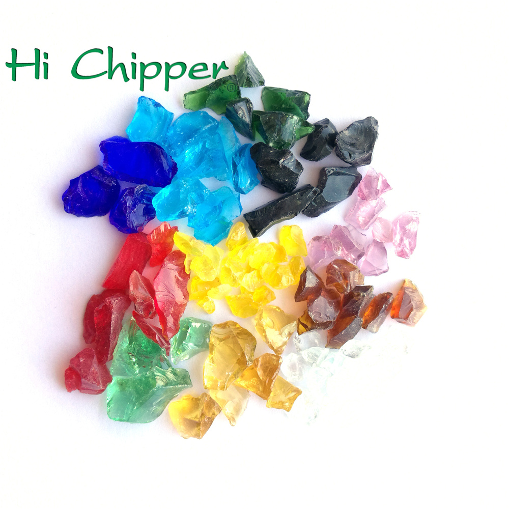 Decorative Terrazzo Recycled Crushed Broken Colored Glass Aggregate Chippings Suppliers
